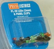 Peco PL30 3mm LEDs & panel clips - reduced further
